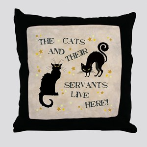 THE CAT AND THEIR... Throw Pillow