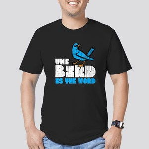 The Bird is the Word Men's Fitted T-Shirt (dark)