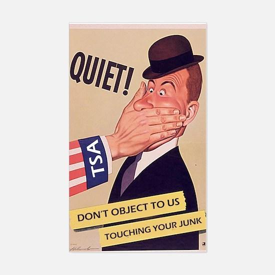 Quiet TSA Sticker (Rectangle)