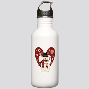 Snowman and Heart Stainless Water Bottle 1.0L