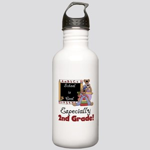 2nd Grade School is Cool Stainless Water Bottle 1.