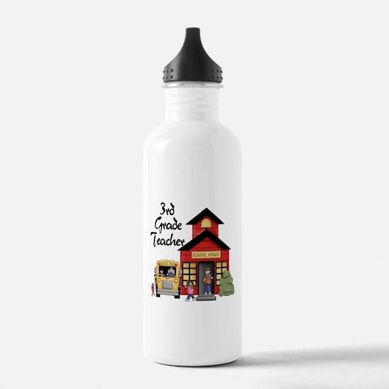 3rd Grade Teacher Water Bottle