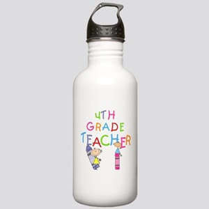 Crayons 4th Grade Stainless Water Bottle 1.0L