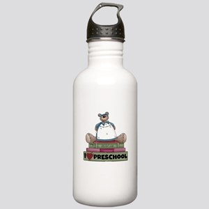 Bear and Books Preschool Stainless Water Bottle 1.