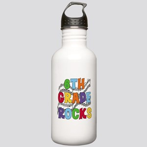 Bright Colors 6th Grade Stainless Water Bottle 1.0