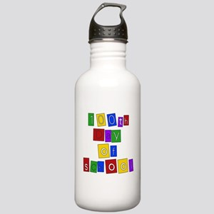 Bright Colors 100th Day Stainless Water Bottle 1.0