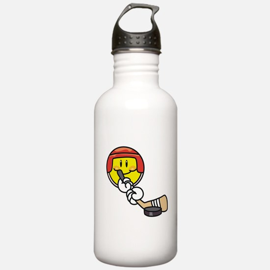 Smile Face Hockey Water Bottle