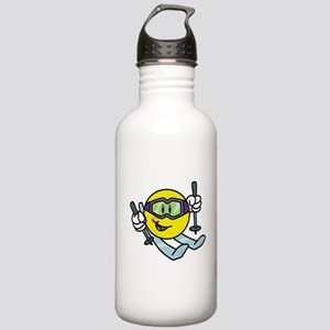 Smile Face Skiing Stainless Water Bottle 1.0L