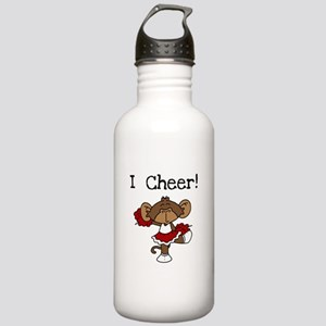 Cheerleader Red and White Stainless Water Bottle 1
