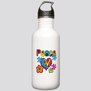 Peace and Love Stainless Water Bottle 1.0L