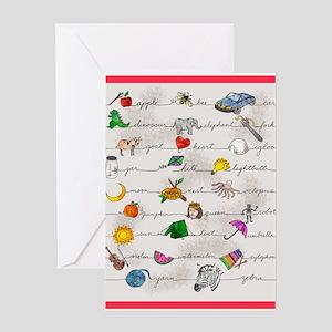 Illustrated Alphabet Greeting Cards
