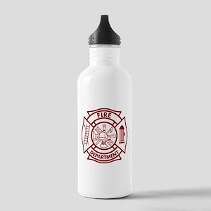 Firefighter Maltese Cross Stainless Water Bottle 1
