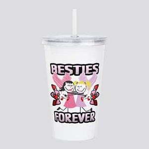 Besties Forever Acrylic Double-Wall Tumbler