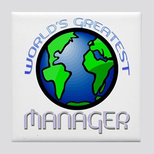 World's Greatest Manager Tile Coaster