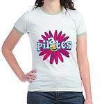 Pilates Flower by Svelte.biz Jr. Ringer T-Shirt