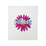 Pilates Flower by Svelte.biz Throw Blanket
