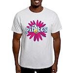 Pilates Flower by Svelte.biz Light T-Shirt