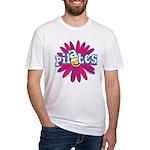 Pilates Flower by Svelte.biz Fitted T-Shirt
