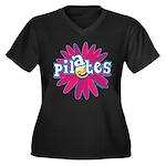 Pilates Flower by Svelte.biz Women's Plus Size V-N