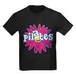 Pilates Flower by Svelte.biz Kids Dark T-Shirt