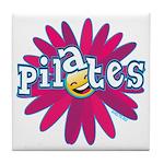 Pilates Flower by Svelte.biz Tile Coaster