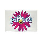 Pilates Flower by Svelte.biz Rectangle Magnet