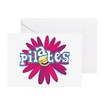 Pilates Flower by Svelte.biz Greeting Cards (Pk of