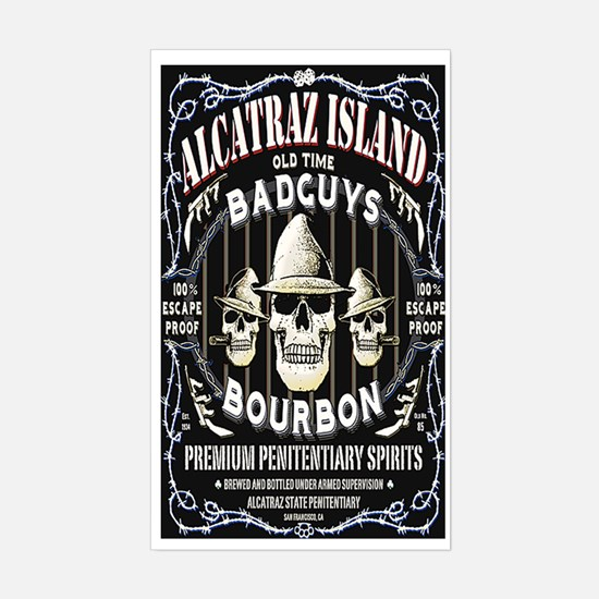 ALCATRAZ ISLAND BAD GUYS BOUR Sticker (Rectangle)