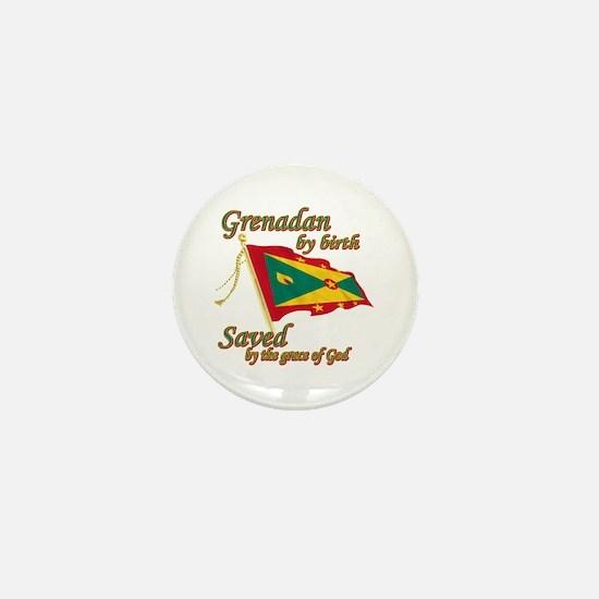 Grenadian by birth Mini Button