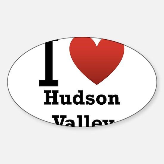 I Love Hudson Valley Sticker (Oval)