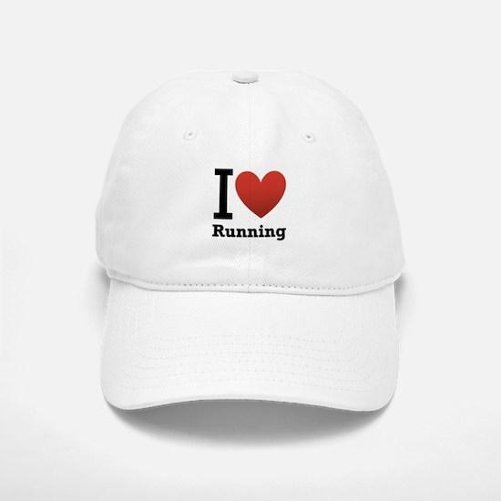 I Love Running Baseball Baseball Cap