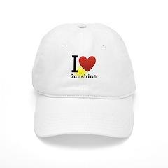 I Love Sunshine Baseball Cap