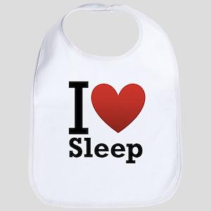 I Love Sleep Bib