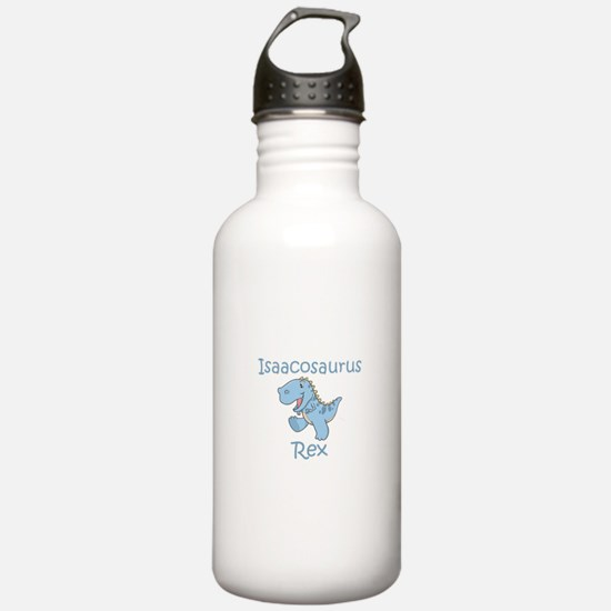 Mom, Dad, & Isaacosaurus Sports Water Bottle