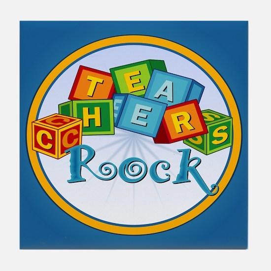 Teachers Rock! Tile Coaster