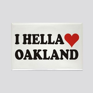 I Hella (Heart) Oakland Rectangle Magnet