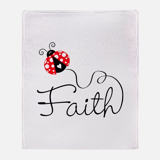 Ladybug Faith Throw Blanket