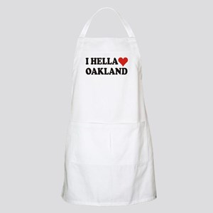 I Hella (Heart) Oakland BBQ Apron