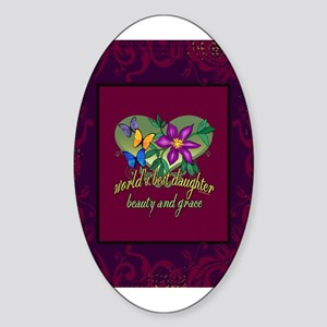 Beautiful Daughter Sticker (Oval)