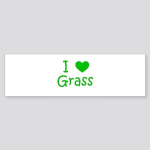 I Heart Grass Bumper Sticker