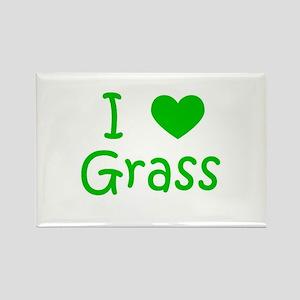 I Heart Grass Rectangle Magnet
