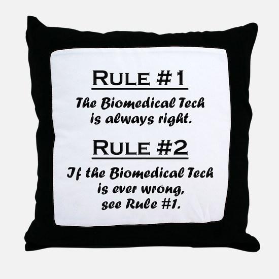 Biomedical Technician Throw Pillow