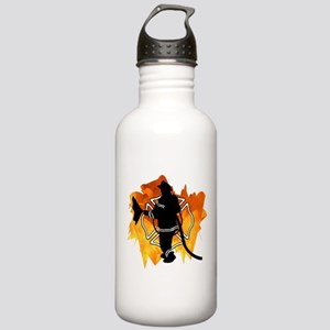 Firefighter Flames Stainless Water Bottle 1.0L