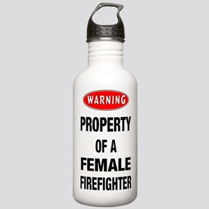 Female Firefighter Property Stainless Water Bottle