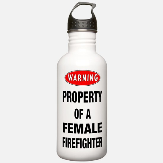 Female Firefighter Property Water Bottle