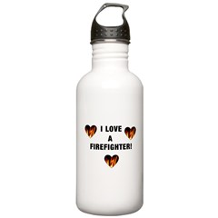 I Love a Firefighter Water Bottle