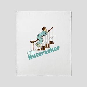 Nutcracker Christmas Throw Blanket
