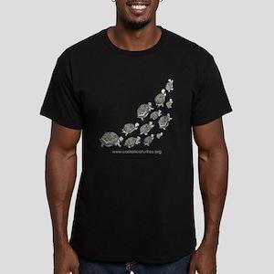 TURTLE UP Men's Fitted T-Shirt (dark)