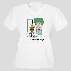 Security Women's Plus Size V-Neck T-Shirt