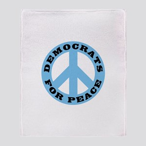 Democrats For Peace Throw Blanket
